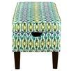 Skyline Furniture Upholstered Storage Bedroom Bench in Apsara Aegean