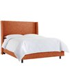 Skyline Furniture Cotton Upholstered Wingback Bed