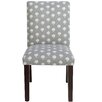 Skyline Furniture Parsons Chair in Hand Flora Graystone