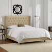 Skyline Furniture Tufted Upholstered Wingback Panel Bed