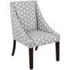 Skyline Furniture Swoop Arm Chair in Gray & White