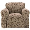 Sure Fit Scroll Classic Armchair Skirted Slipcover