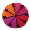 Trina Turk Indio Round Needlepoint Wool Throw Pillow