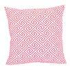 Trina Turk Santorini, Geometric Pink Embroidered Pillow