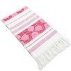 Linum Home Textiles Flowers For All Jacquard Pestemal Towel