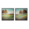 Sterling Industries Turning Leaves 2 Piece Framed Painting Print Set