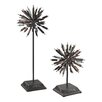 Sterling Industries 2 Piece Boulevard Abstract Finial Sculpture Set (Set of 2)