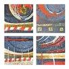 Sterling Industries Exclusive Fulvio Dot 4 Piece Graphic Art Plaque Set