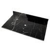 "D'Vontz Natural Stone 31"" Stone Vanity Top for Vessel Sink"