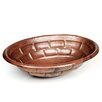 D'Vontz Tortoise Shell Oval Undermount Bathroom Sink