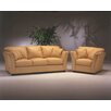 Omnia Leather Manhattan 3 Seat Leather Living Room Set