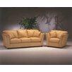 Omnia Leather Manhattan 4 Seat Sofa Leather Living Room Set