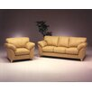 Omnia Leather Nevada 3 Seat Leather Living Room Set
