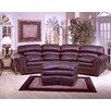 Omnia Leather Williamsburg 3 Seat Leather Living Room Set