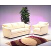 Omnia Leather Salerno 4 Seat Leather Living Room Set