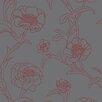 Tempaper Tempaper® Peonies Self-Adhesive, Removable Floral and Botanical Foiled Panel Wallpaper