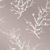 """Tempaper Tempaper® Edie Self-Adhesive, Removable 33' x 20.5"""" Botanical Foiled Wallpaper"""