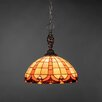 Toltec Lighting Elegante 1 Light Mini Pendant