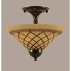 Toltec Lighting 2 Light Semi Flush Mount