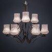 Toltec Lighting Zilo 9 Light Chandelier