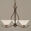 Toltec Lighting Swoop 3 Light Chandelier