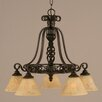 Toltec Lighting Elegante 5 Light Mini Chandelier