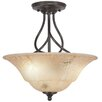 Toltec Lighting Capri 3 Light Semi-Flush Mount
