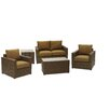 AIC Garden & Casual Metro 5 Piece Deep Seating Group with Cushion