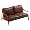 Dan-Form 2-Sitzer Einzelsofa Hermes aus Leder