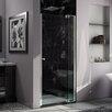 """DreamLine Allure 73"""" x 39"""" Frameless Pivot Shower Door"""