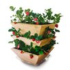 Homegrown Gourmet Garden Strawberry Patch Tower Wood Vertical Garden Planter - Architec Planters