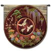 Fine Art Tapestries Abstract Cloisonne Ruby by Acorn Studios Tapestry