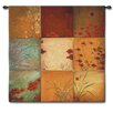 Fine Art Tapestries Abstract Poppy Nine Patch Large by Don Li-Leger Tapestry