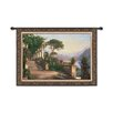 Fine Art Tapestries Classical Lodge at Lake Como-Large by Aagaard Tapestry
