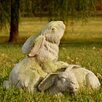 OrlandiStatuary Garden Décor Bunnies at Play Statue
