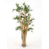 Distinctive Designs Waterlook® Silk Leafy Bamboo in Tall Glass Floor Vase