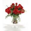 Distinctive Designs Waterlook® Roses and Fern in Glass Urn