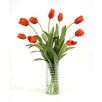 Distinctive Designs Waterlook Silk Tulips in Ribbed Vase