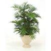 Distinctive Designs Silk Parlour Palm Floor Plant in Planter