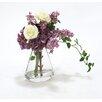Distinctive Designs Waterlook® Hydrangeas with Ranunculus in Glass Rocker Vase