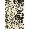 Noble House Floral White & Black Area Rug