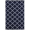 Mohawk Home Loop Print Base Fancy Trellis Navy Area Rug