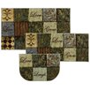 Mohawk Home New Wave Les Fleurs La Terre Printed Area Rug Set