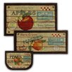 Mohawk Home New Wave 3 Piece Fruit Crate Mat Set