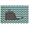 Mohawk Home Aurora Oh Whale Teal Area Rug