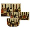 Mohawk Home New Wave 3 Piece Wine Mat Set