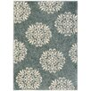 Mohawk Home Huxley Slate Blue Exploded Medallions Woven Area Rug