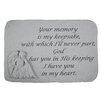 Design Toscano Your Memory is my Keepsake...Angel Memorial Garden Marker Stepping Stone