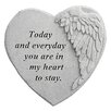 Design Toscano In My Heart to Stay...Angel Wing Memorial Garden Marker Stepping Stone