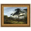 Design Toscano Italian Landscape with Umbrella Pines, 1807 Framed Original Painting Print on Canvas